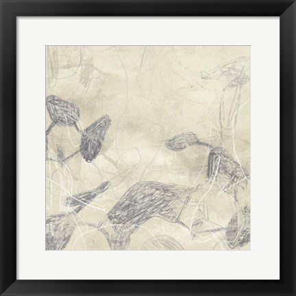 Framed Graphite Inversion II Print