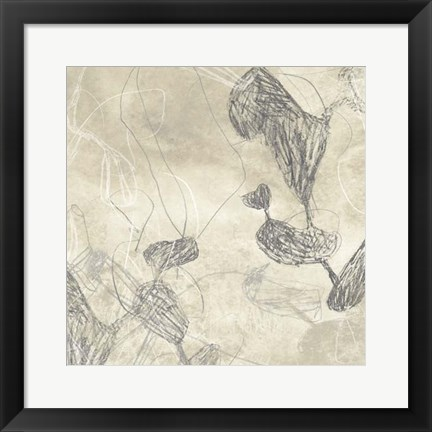 Framed Graphite Inversion III Print