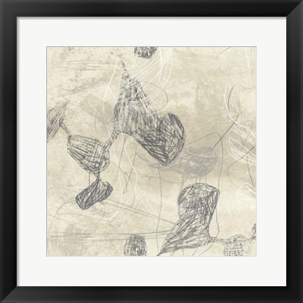 Framed Graphite Inversion IV Print