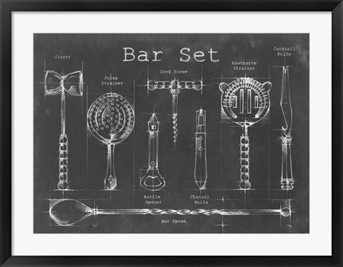 Framed Bar Set Print