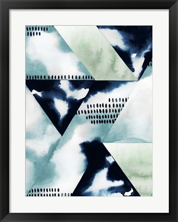 Framed Blue Billow II Print