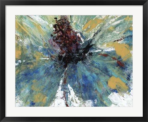 Framed Blue Splash I Print