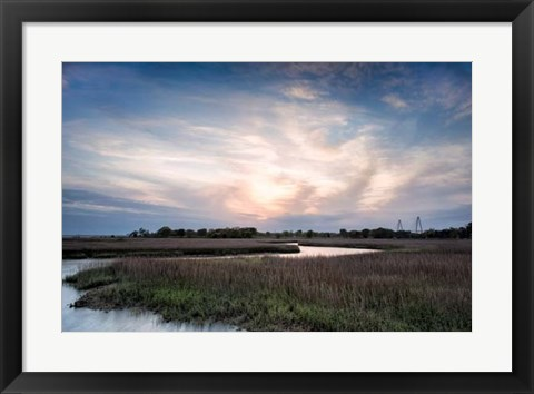 Framed Low Country Sunset III Print