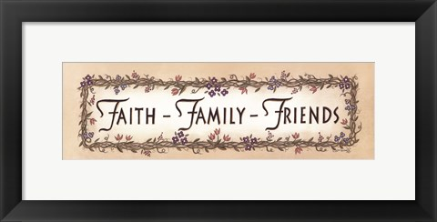 Framed Faith - Family - Friends Print