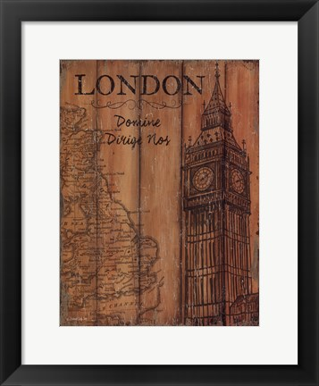 Framed London Travel Poster Print