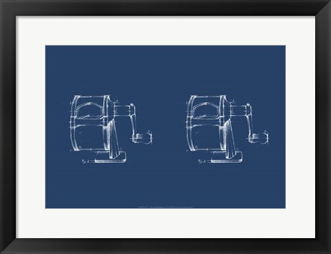 Framed 2 Up - Office Supply Blueprint I Print