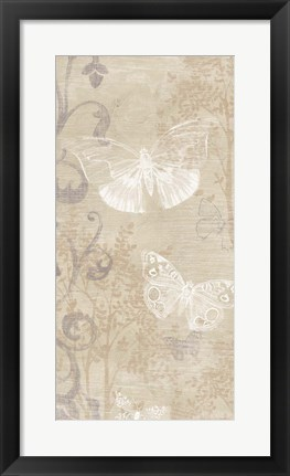 Framed Butterfly Forest I Print
