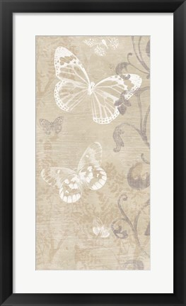 Framed Butterfly Forest II Print