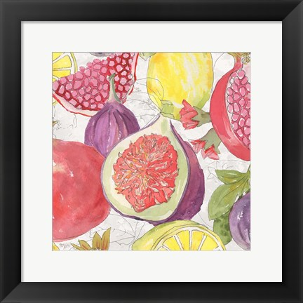 Framed Fruit Medley I Print