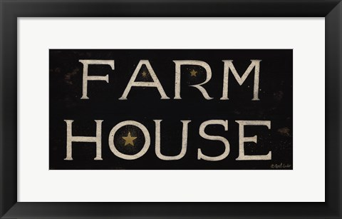 Framed Farm House Print