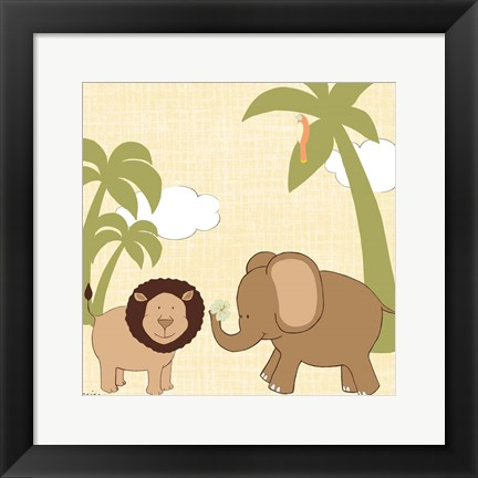 Framed Baby Jungle IV Print