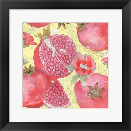 Framed Pomegranate Medley II Print