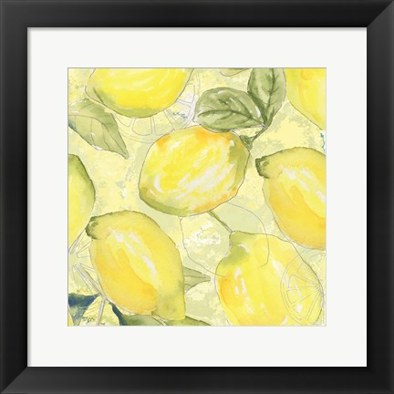 Framed Lemon Medley I Print