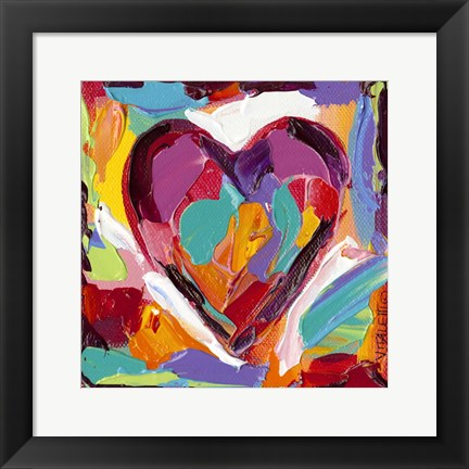 Framed Colorful Expressions IV Print