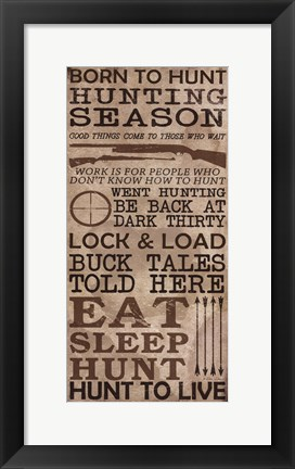 Framed Hunting Season Print