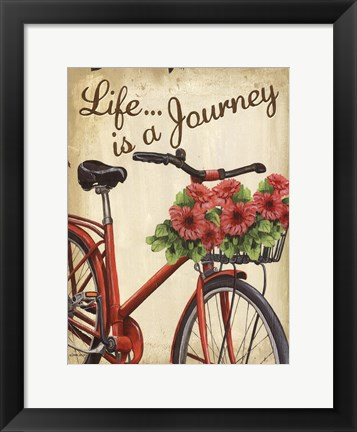 Framed Life is a Journey Print