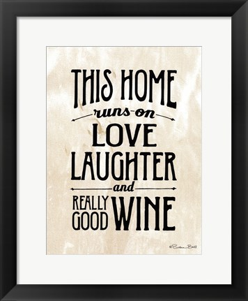 Framed Home with Wine Print