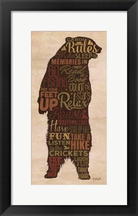 Framed Cabin Rules Print