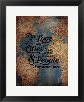 Framed Cities and People Print