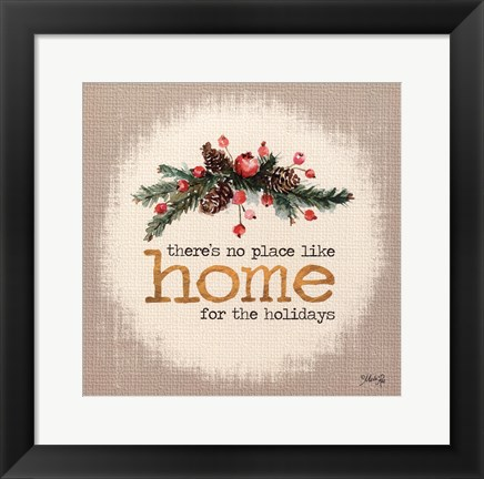 Framed Home for the Holidays Print