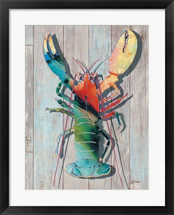 Framed Lobster I Print