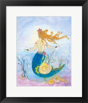 Framed Shelby Mermaid Print