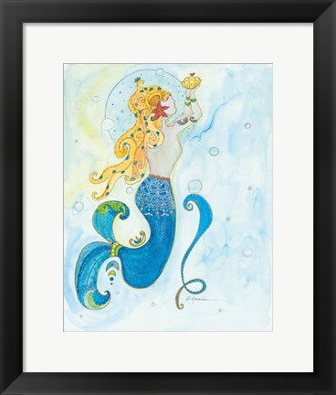 Framed Julia Mermaid Print