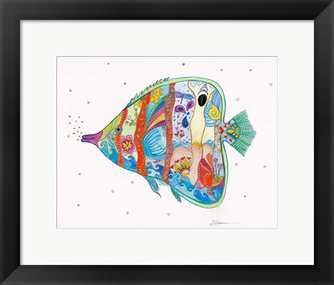 Framed Passion Fish II Print