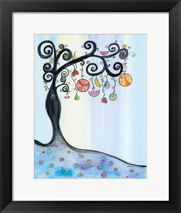 Framed Fruit Tree Print