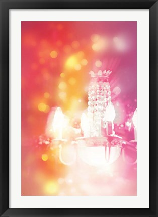 Framed Pink with Light Print