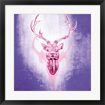 Framed Purple Deer Print