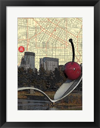 Framed Minneapolis Cherry Spoon Print