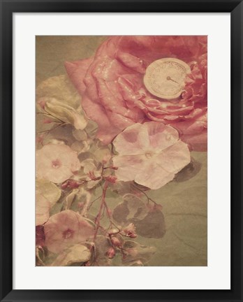 Framed Garden Clock Print