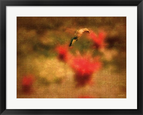 Framed Hummingbird Masterpiece II Print