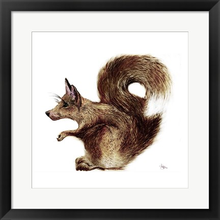 Framed Foxysquirrel Print
