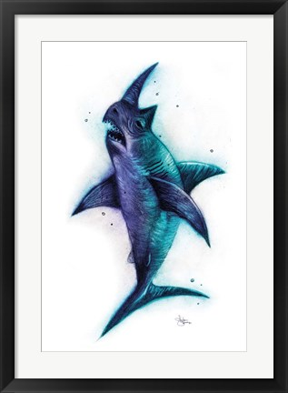 Framed Sharkhino Print