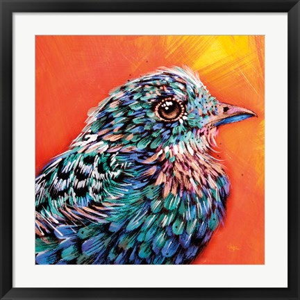 Framed Interference Feathers Print