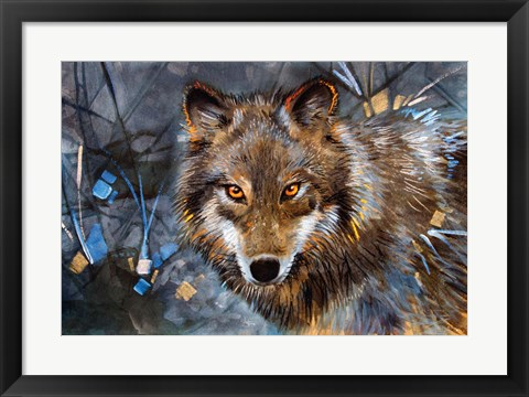 Framed Interference Wolf Print