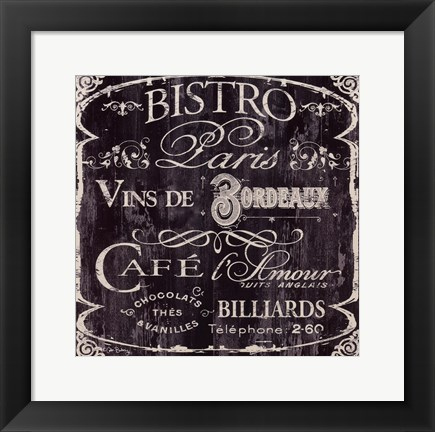 Framed Bistro Paris Print