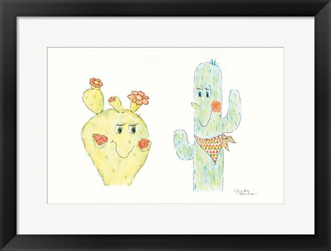 Framed Prickly Pair Print