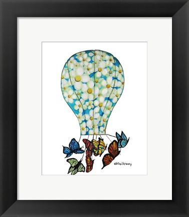 Framed On Butterfly Wings Print