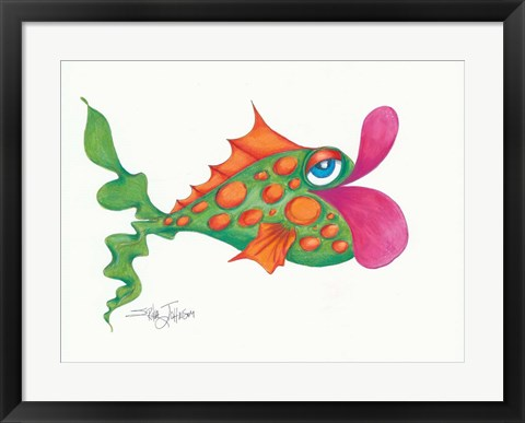 Framed Flamboyant Fish I Print