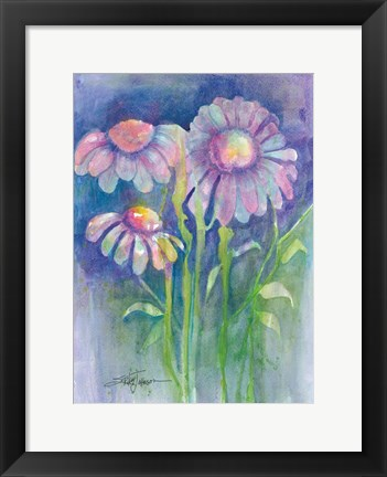 Framed Cone Flower I Print