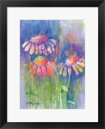 Framed Cone Flower II Print