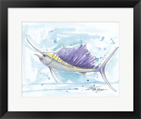 Framed Sailfish Print