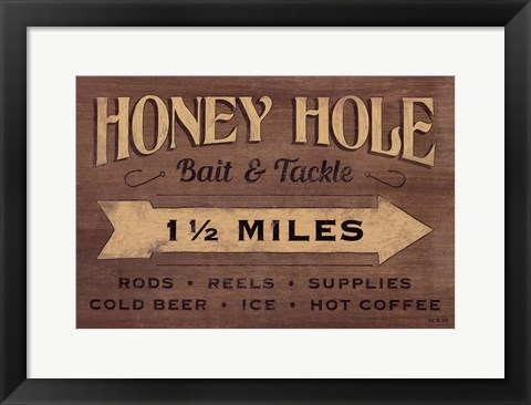 Framed Honey Hole Print