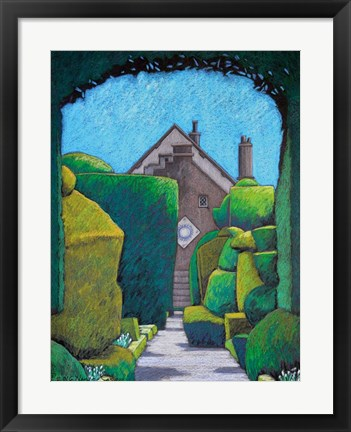 Framed House Through Topiary Arch Print