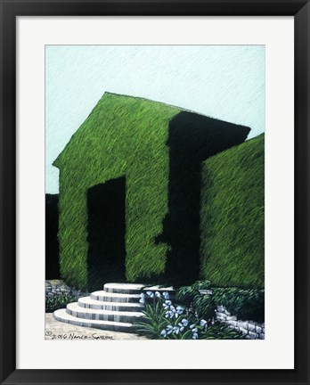 Framed Topiary Peaked Arch Print