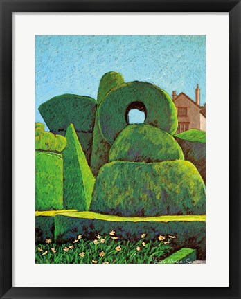 Framed Topiary Shapes Print