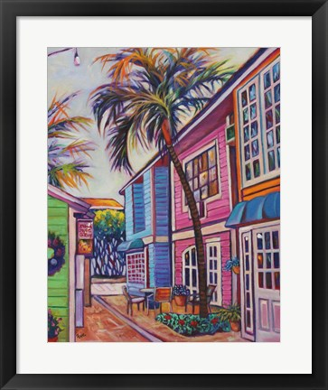 Framed Courtyard Palm Print